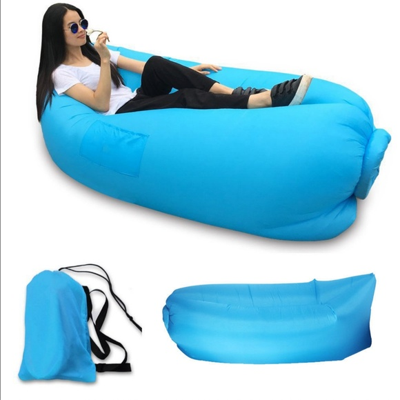 Prime Festival Inflatable Air Bed Lounge Chair Sofa Blue Nwt Pabps2019 Chair Design Images Pabps2019Com